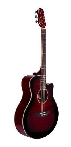 Guitarra Acústica Parquer Custom Apx Roja Media Caja Corte