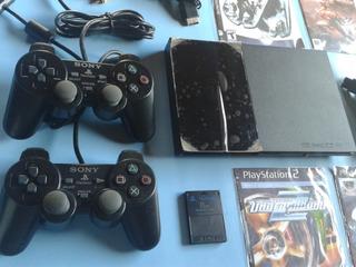 Play Station 2, Sony Ps2, Con Todos Sus Accesorios, Chipeado