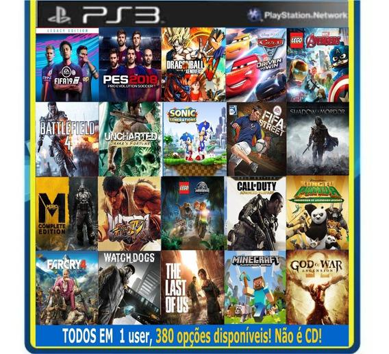 15 Jogos Originais Midia Digital Ps3 Playstation 3 380 Opcoe