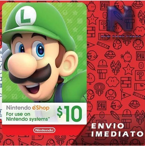 Cartão Nintendo 3ds Wii U Switch Eshop Cash $5