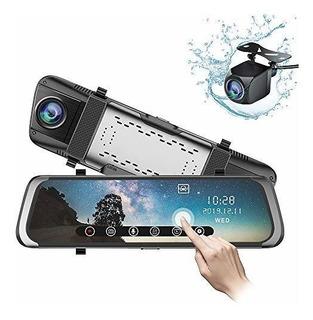 Junsun Mirror Dash Cam 10 Pulgadas 1080p Pantalla Tactil Com