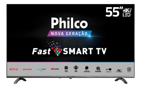 Smart Tv 4k Led 55 Philco Wifi Ptv55q20snbl