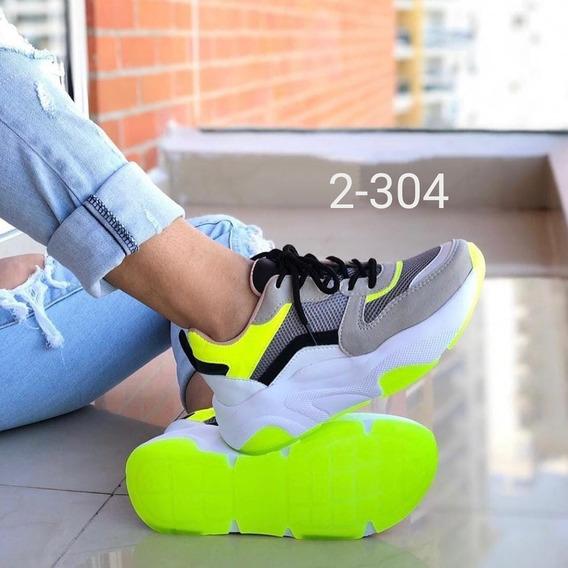 Zapatillas De Dama, Colores *neon*, A La Moda, Super Cómodas