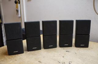 Juego De 5 Parlantes Dobles Bose Cube Negros Usados Buenos