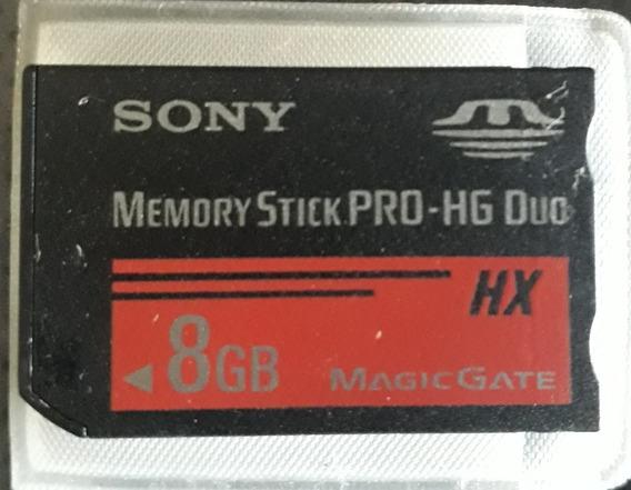 Cartão Memoria Sony 8gb Memory Stick Pro Hg Duo