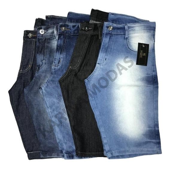 Kit 3 Bermudas Jeans Masculina Super Barato C/ Nf-e