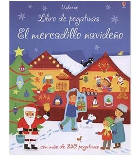 * El Mercadillo Navideño * Libro Pegatinas Usborne Navidad