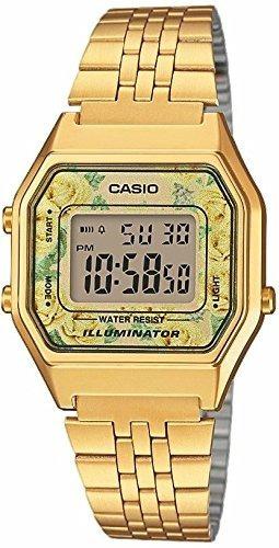 Casio Vintage Gold Flores Original La-680