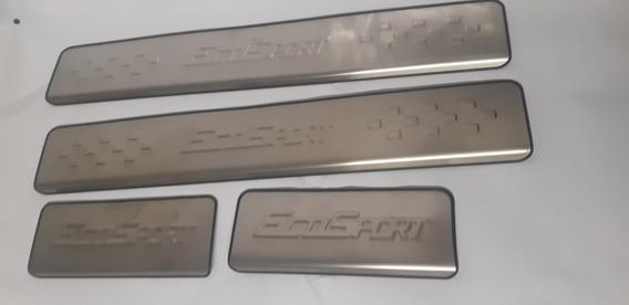 Cubre Estribos Ford Ecosport Aluminio 4 Pzas Embellecedor