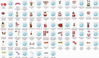 Silhouette Cameo Archivos De Corte Navidad 373 Archivos