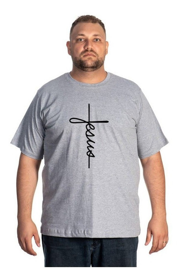 Camiseta Plus Size Estampada Jesus Casual Lançamento Selten
