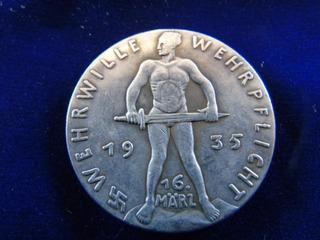 Réplica Moneda Medalla Formación Wehrmacht 1935 Alemania