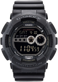 Relogio Casio G-shock Gd-100-1b Fundo Negativo 100%original