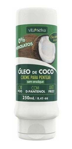 Imagem 1 de 6 de Creme De Pentear Hidratação Óleo De Coco 300ml Vita Seiva