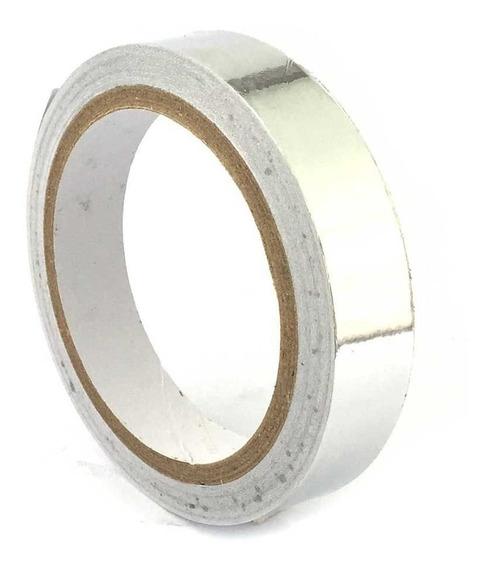 Fita Termica Aluminio Alta Temperatura 20mm / Rolo 30mts