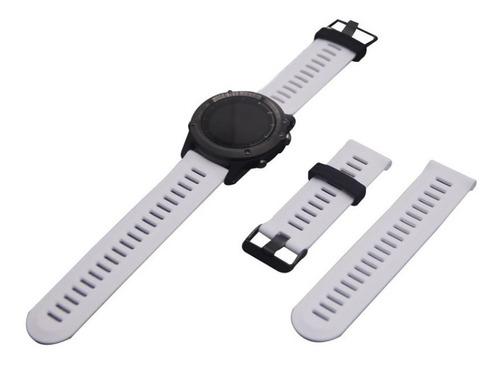 Correa Extensible Reloj Garmin Fenix 3 Hr - Silicona Blanco