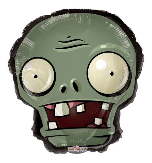 6 Globos Zombies Vs Plants Centro Mesa Mix Metal 9in Fiestas