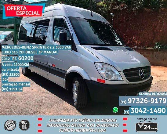 Mercedes-benz Sprinter Van 2.2 Cdi 313 Luxo Teto Alto 5p