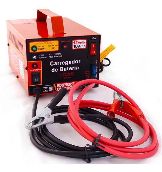 Carregador De Bateria 12 Volts 10a Com Reativador + Brinde