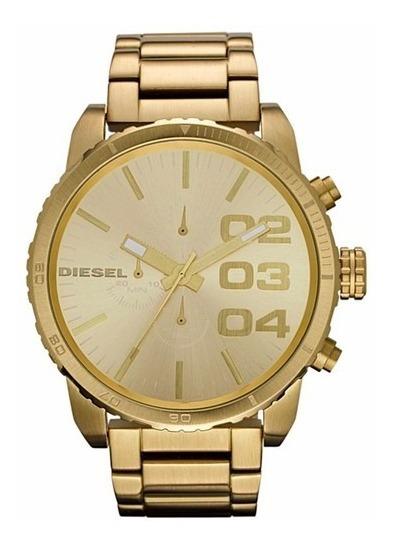 Relógio Diesel Masculino Idz4268/z Aço Dourado Cronografo