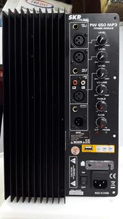 Módulo Biamplificado Skp Pw-650 Mp3 1300w