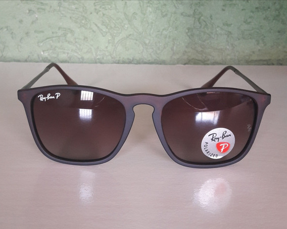 Ray Ban Chris Rb4187 Marrom Polarizado Original Importado