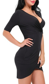 Vestido De Fiesta Tipo Coctel Talla Grande Negro Ym05