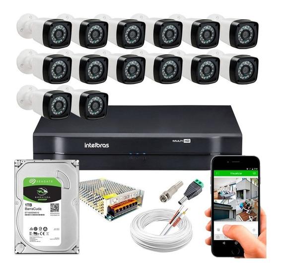 14 Cameras Infra Bullet Full Hd 1080p Dvr Intelbras 16ch 1tb