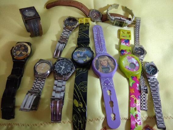 Lote Com 12 Relógios Antigos.