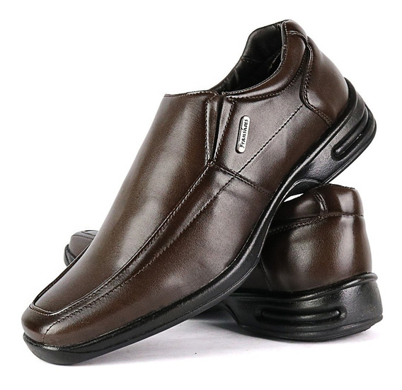 Sapato Social Sapatofran Bico Quadrado Anti-stress