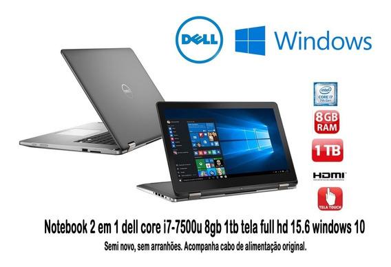 Notebook Dell Inspiron 2 Em 1 8gb Ram 1 Tera