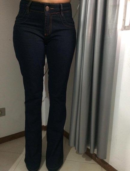 Calça Jeans Feminino Flare Knoten