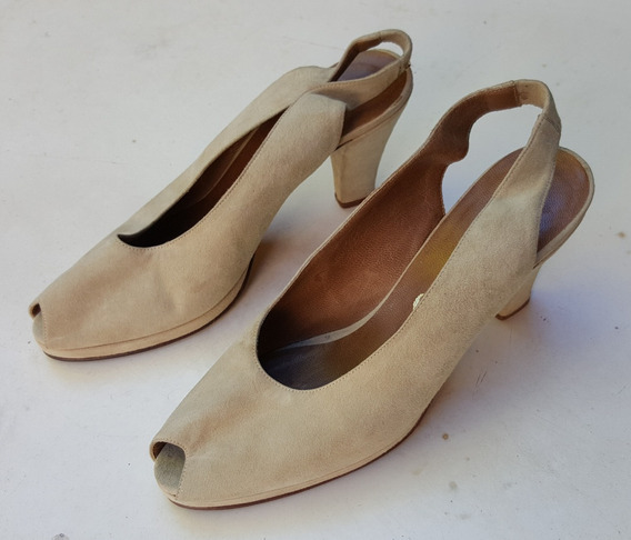 Zapatos Mujer Gamuza Beige