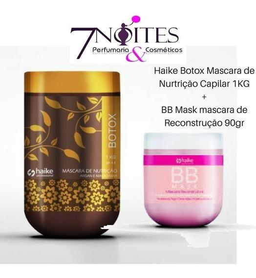 Haike Botox Mascara De Nurtrição Capilar 1kg + Bb Mask 90gr