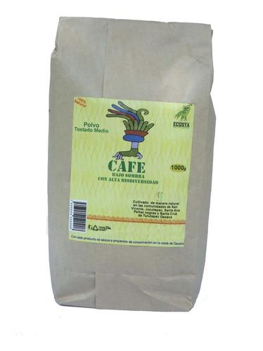 Café Orgánico Bajo Sombra Tostado Medio En Polvo 2kg
