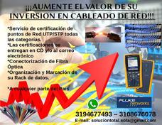 Certificaciones Cableado De Red De Datos Y/o Telefonía