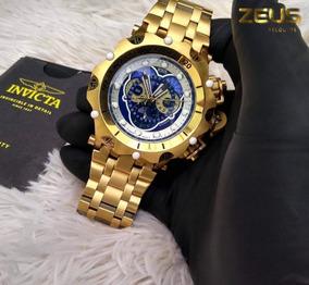 Relógio Masculino Invicta Venom Hybrid 16805 Dourado E Azul