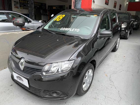 Renault Sandero 1.0 Authentique 2018 Baixa Km