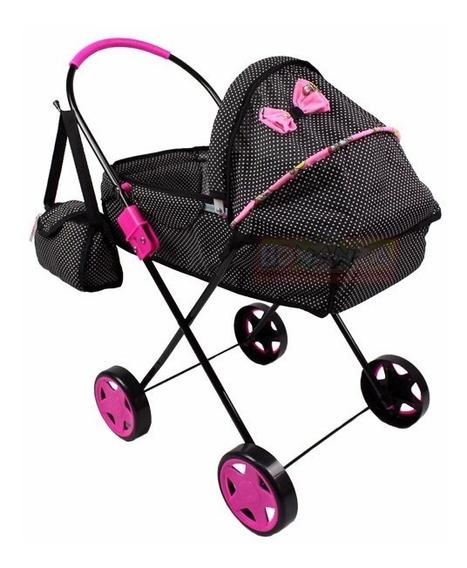 Carrinho De Boneca Bebê Reborn Berço Pink
