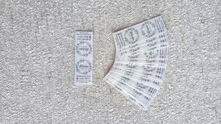 Sticker Etiqueta Cierra Bolsa 9x3cm X 100u. Negocio. Marca