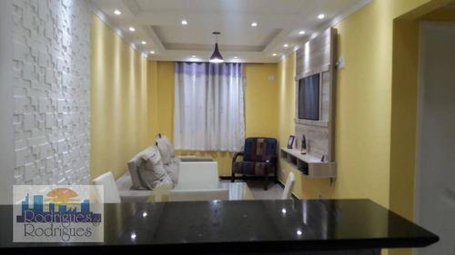 Imagem 1 de 22 de Apartamento Com 1 Dormitório À Venda, 39 M² Por R$ 250.000 - Aviação - Praia Grande/sp - Ap0343