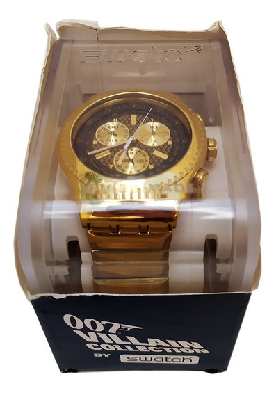 Relógio Swatch 007 Villain Collection Oddjob Goldfinger