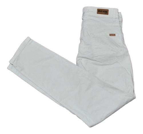 Pantalon Blanco Elastizado Chupin 47 Street Impecable
