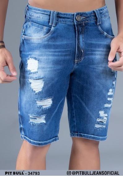 Bermuda Jeans Masculina Pit Bull Jeans Original 34793 (enc)
