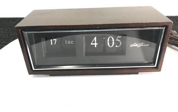 Hermoso Reloj Flip Seth Thomas Eléctrico Japan Vintage