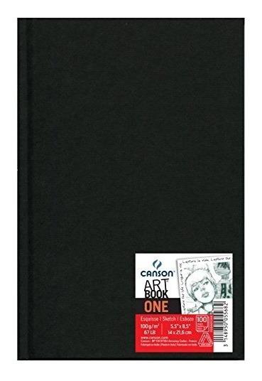 Caderno Sketchbook Canson Artbook One 100g A5 98 Folhas
