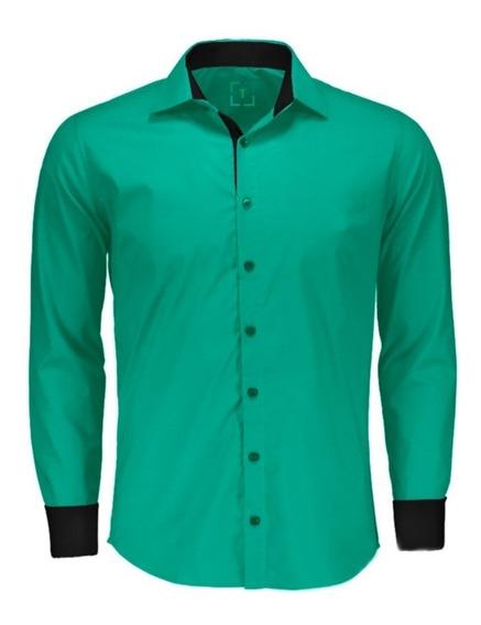Kit 3 Camisas Social Masculina Slim Fit - Atacado - Promoçao