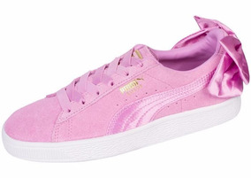 Tenis Puma Suede Bow Orchid Orchid Rosa Dama