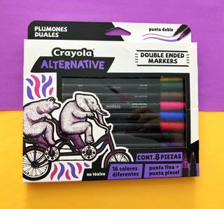 Plumones Crayola Punta Pincel Para Lettering