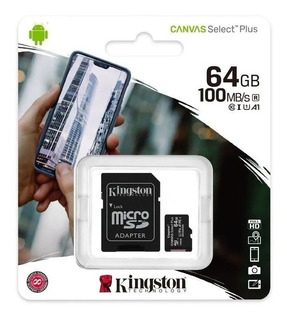 Memoria Micro Sd 64gb Kingston 100% Original 100 Mb/s